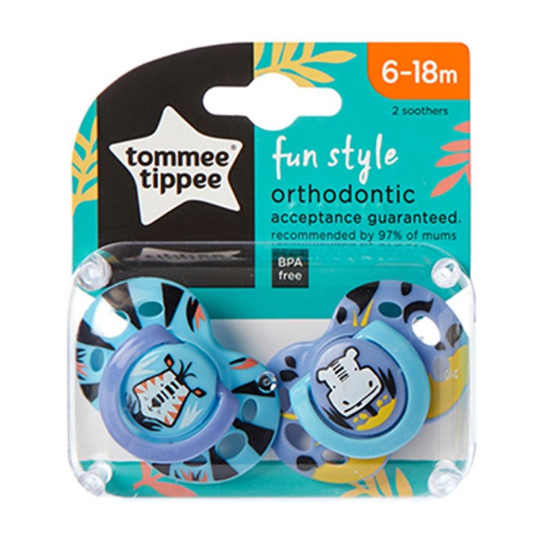 Tommee Tippee Fun Style Soother - 6-18m - 2-Pack