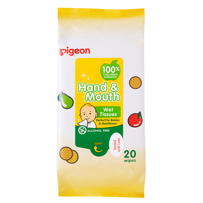 Pigeon Hand & Mouth Wipes 2-in-1
