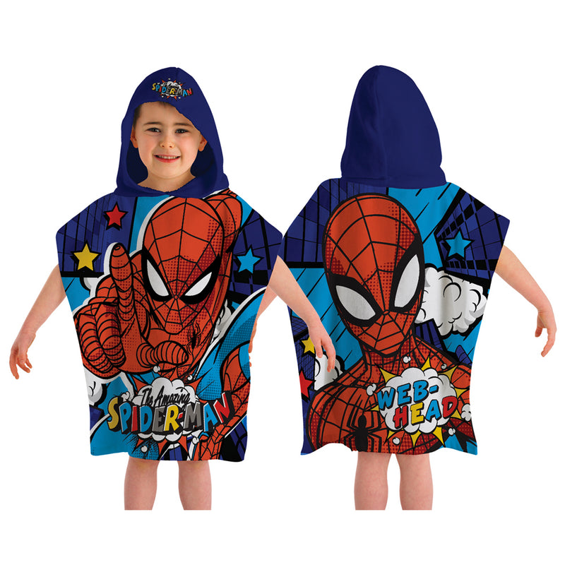 Character Hooded Towel - Spiderman