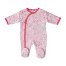 Mother's Choice Quilted BabyGrow - Pink & White Clouds