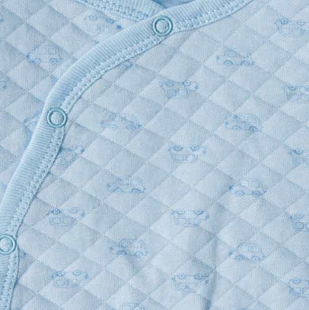 Mother's Choice Quilted BabyGrow - Blue Cars