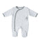 Mother's Choice Quilted BabyGrow - Grey & White Stars