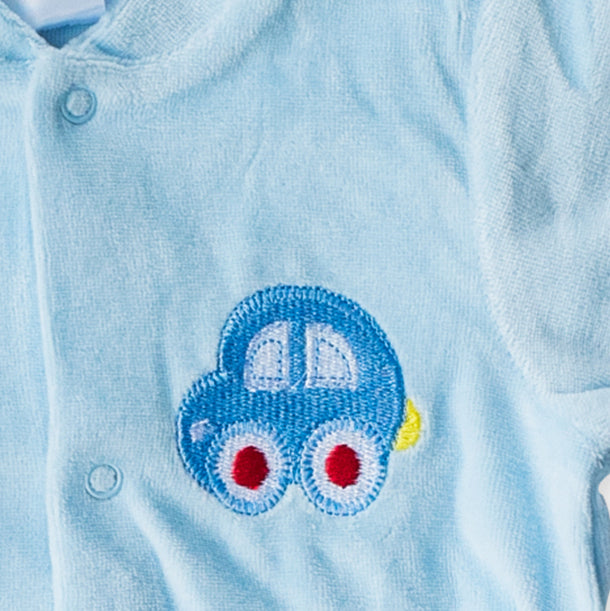 Mother's Choice Cotton BabyGrow - Pastel Blue