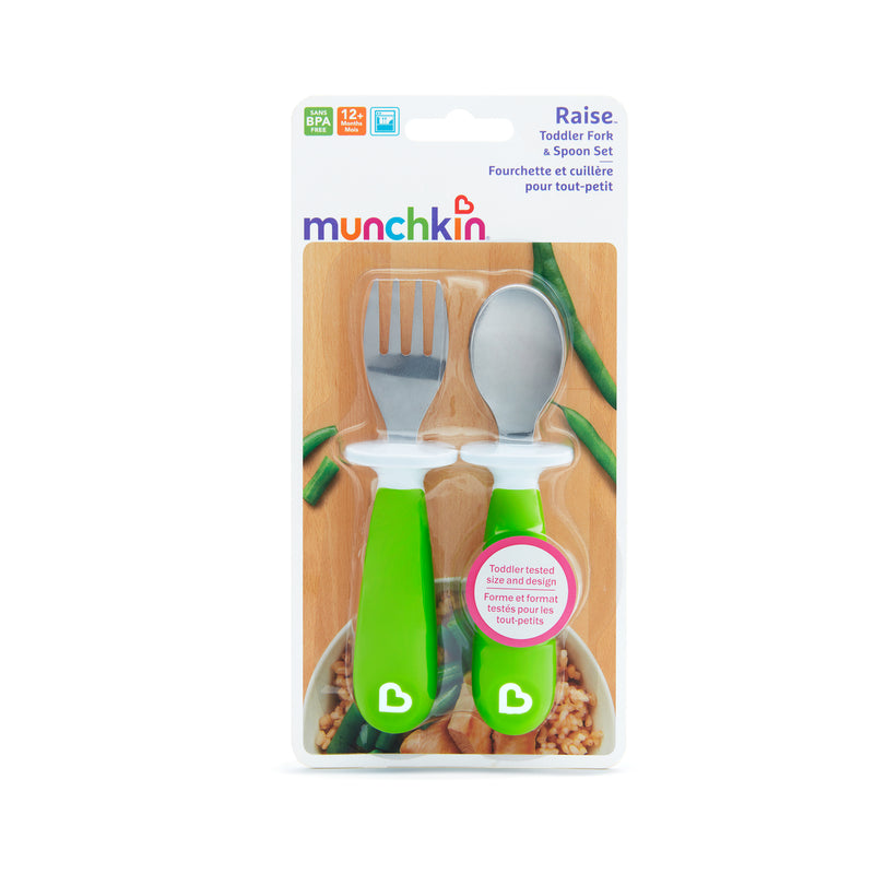 Munchkin Raise™ Toddler Fork & Spoon Set