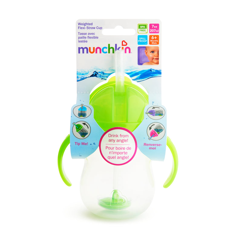 Munchkin Click Lock Weighted Flip Straw Cup 296ml