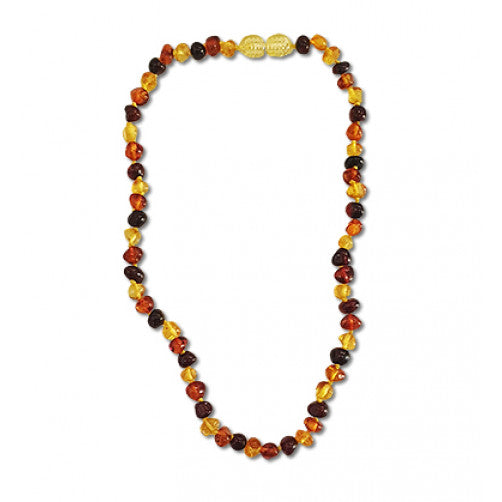 BiddyKins MultiColour Amber Necklace