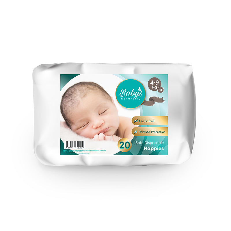 Baby's Naturally Disposable Nappies - M (4-9kg) - 20-pack