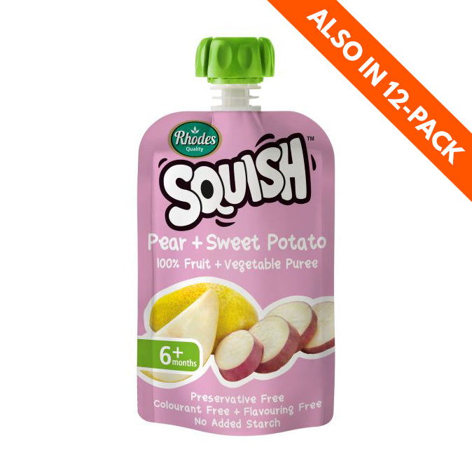 Rhodes Squish Baby Food - Pear & Sweet Potato