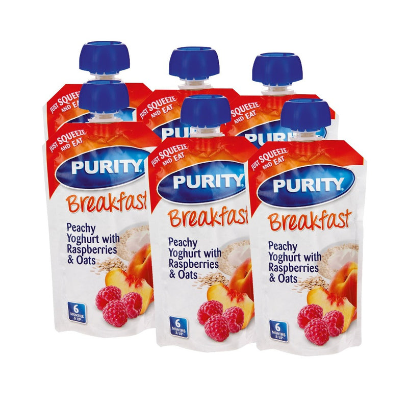 Purity Breakfast Pouches - Pack of 6 - Various