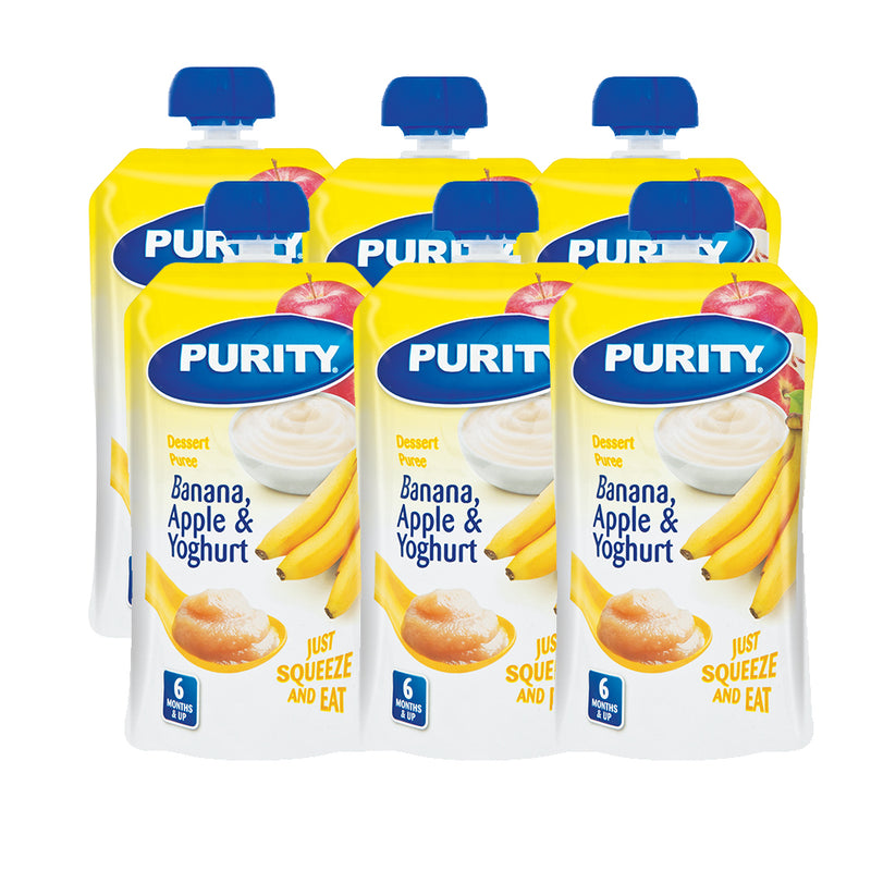 Purity Desert Puree Pouches - Pack of 6 - Various