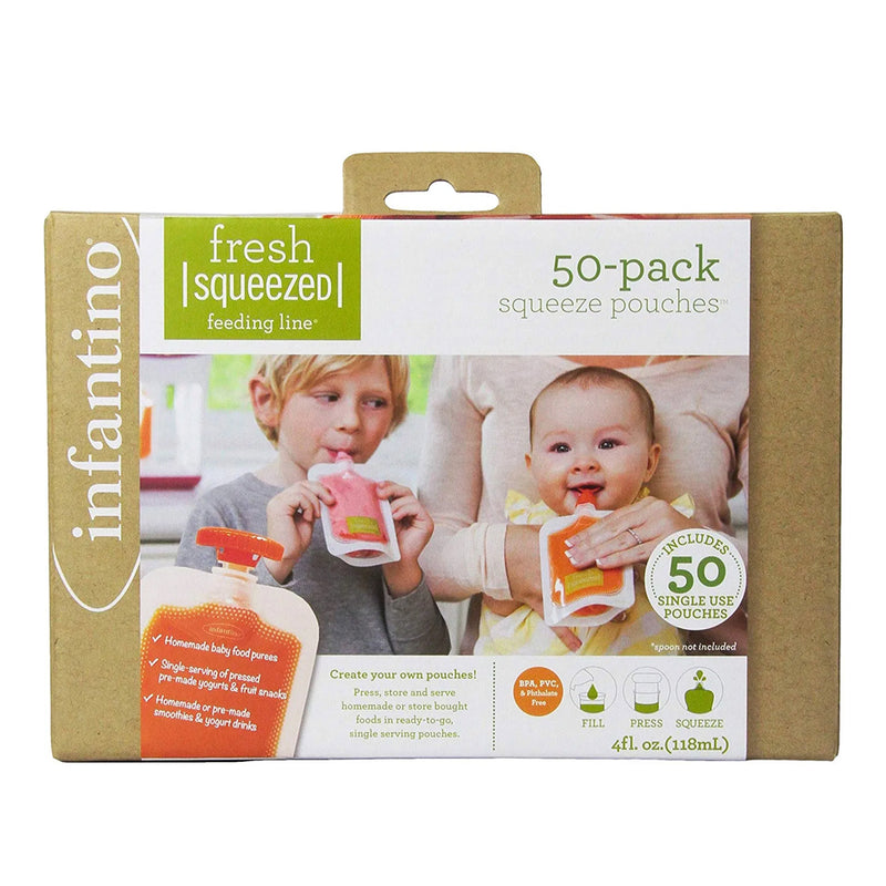 Infantino 50-pack Squeeze Pouches