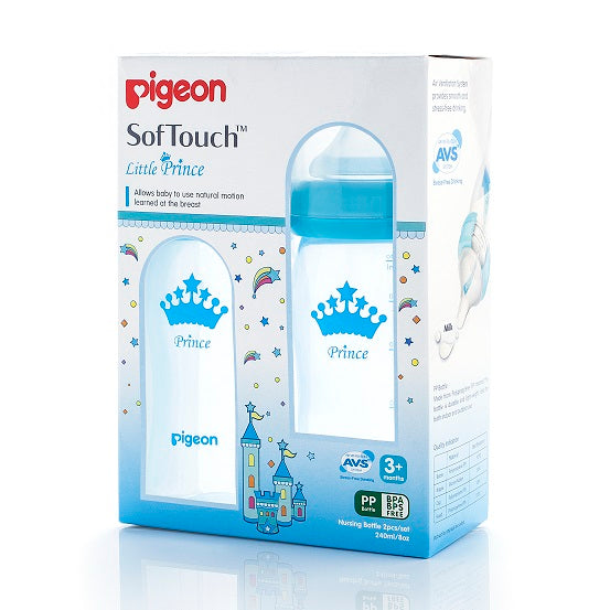 Pigeon Prince Peristaltic Plus Pp Bottle 240ml - 2-Pack