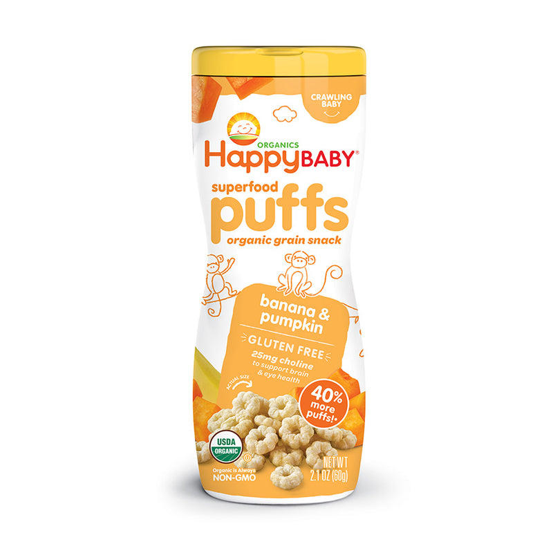 Happy Family Organic Superfood Puffs - Various