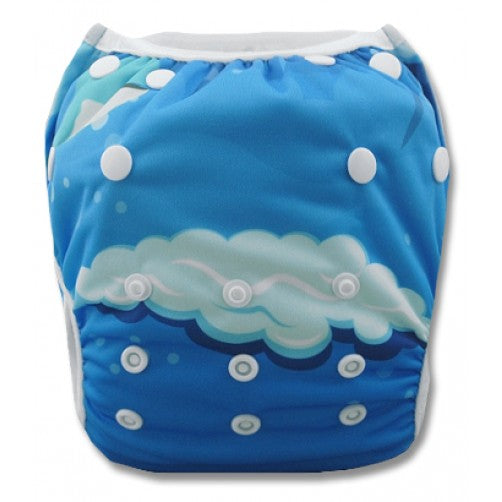 BiddyKins Swim Nappy/Costume - Mom Baby Whale