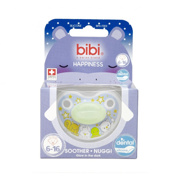 Bibi Happiness Glow In The Dark Soother 6 16m