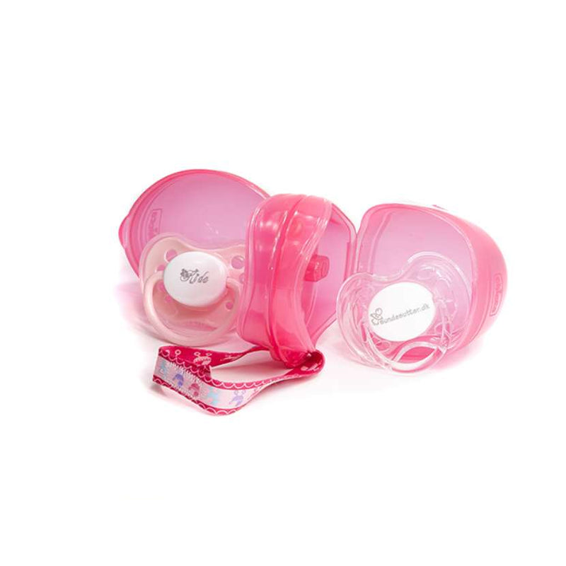 Chicco Double Soother Holder - Pink