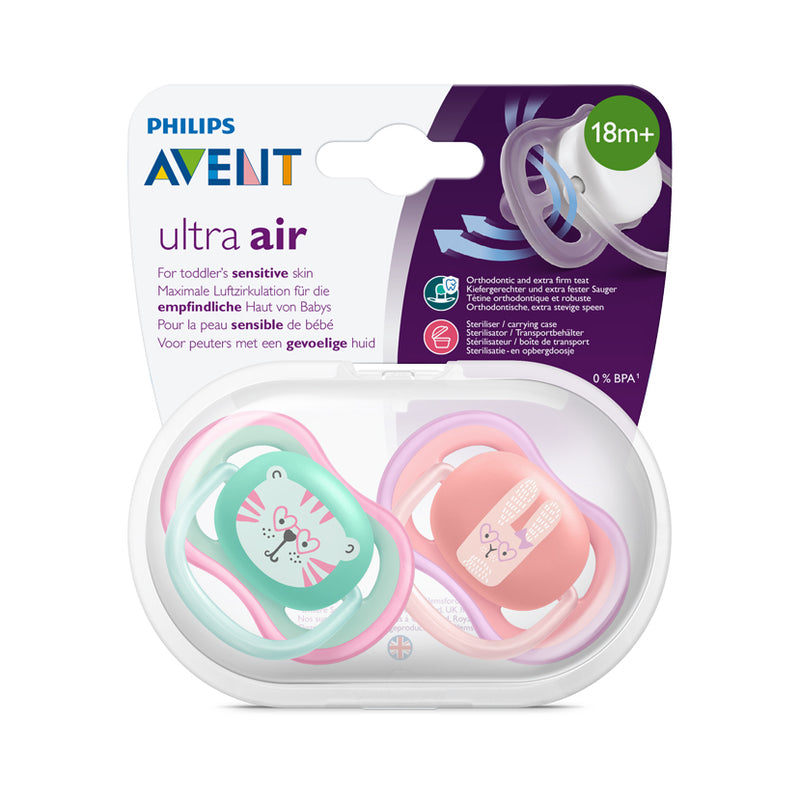 Philips AVENT Ultra-Air Deco Soother 18m+ - 2 Pack