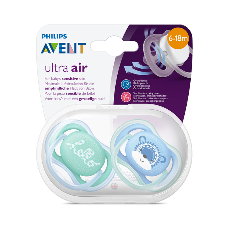 Philips AVENT Ultra-Air Deco Soother 6-18m - 2 Pack
