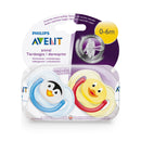 Philips AVENT Animal Design Soother 0-6m - 2 Pack