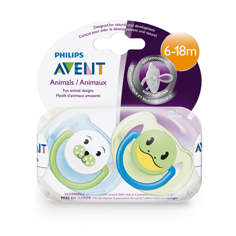 Philips AVENT Animal Design Soother 6-18m - 2 Pack