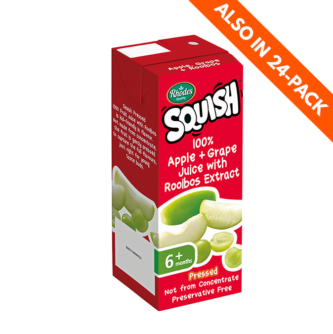 Rhodes Squish 100% Pressed Apple, Grape & Rooibos Juice Blend 200ml