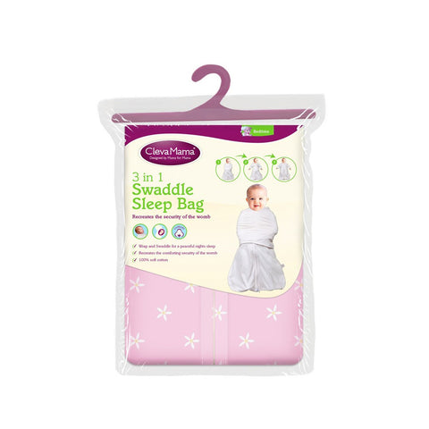 Clevamama 3-in-1 Swaddle Sleep Bag (0-3 months)