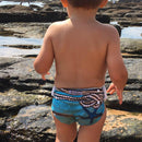 BiddyKins Swim Nappy/Costume - Blue Denim