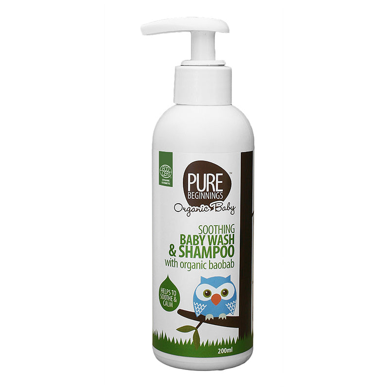 Pure Beginnings Soothing Baby Wash & Shampoo with Organic Baobab - 500ml