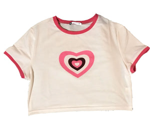 """Sweetheart"" Cropped Tee"