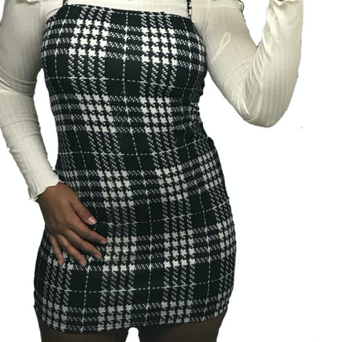 """Over It All"" Plaid Dress"