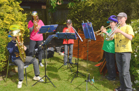Brass band to entertain at the mad hatters tea party