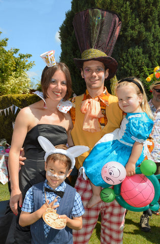 Family fancy dress for mad hatters tea party