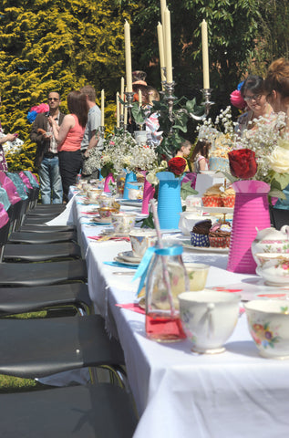 Mad hatters tea party table decorations
