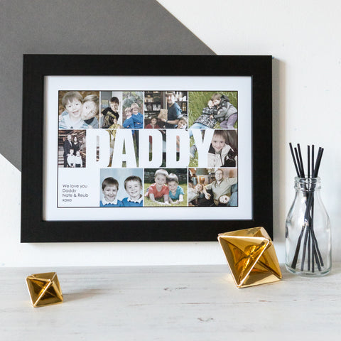 Personalised Daddy photo collage for fathers day gift