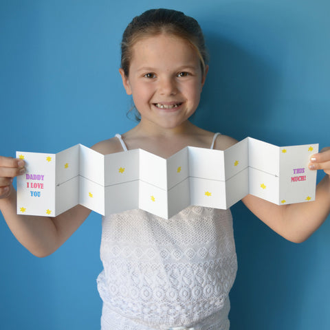 Daddy I love you this much. Card making craft for kids
