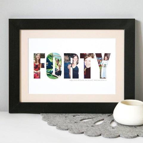 Personalised Birthday Photograph Print 30th, 40th, 50th