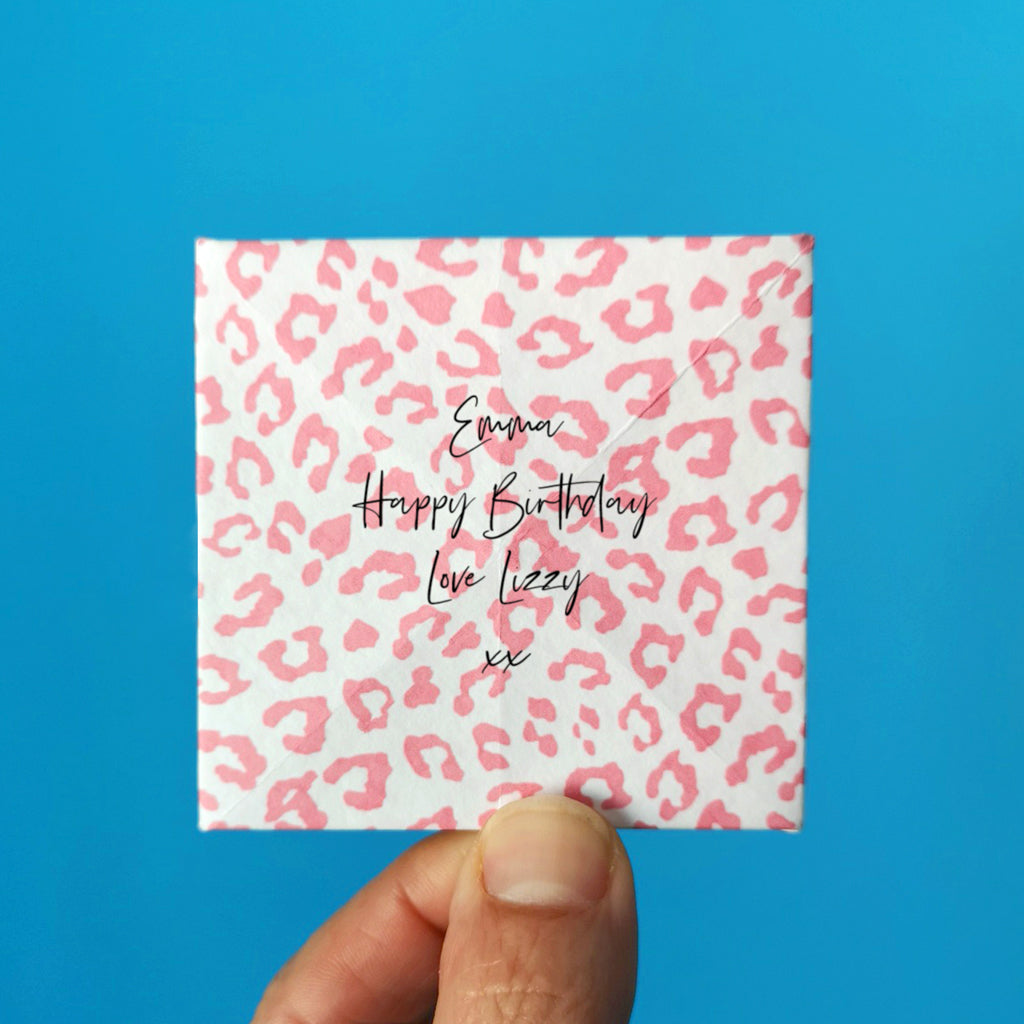 Origami birthday keepsake