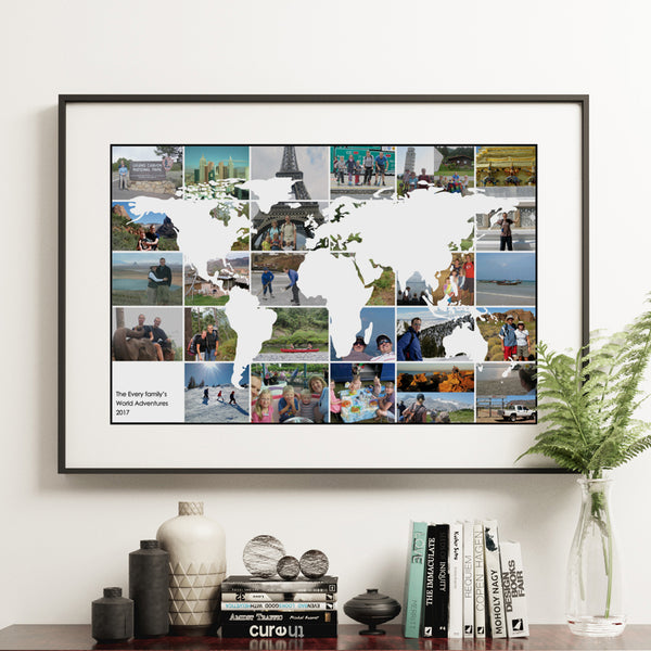Personalised World Travel Photo Collage Map