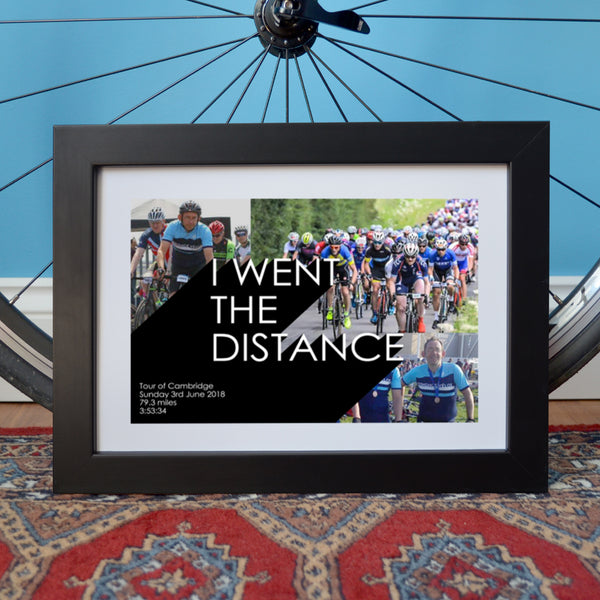 Personalised Cycling Photo Collage Print