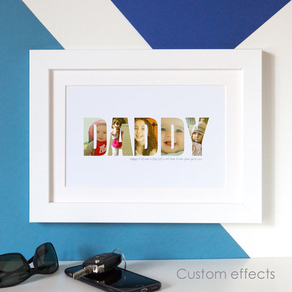 Personalised 'Daddy' Photograph Print