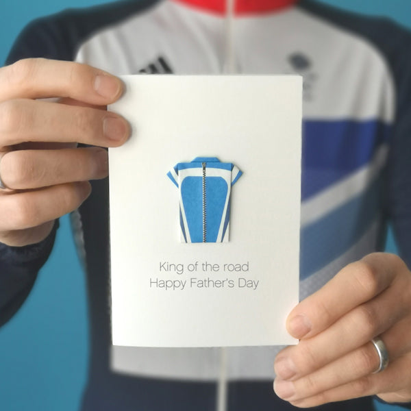 Personalised Father's Day cycling card