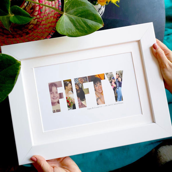 Personalised 50th Fifty Birthday Photo Gift
