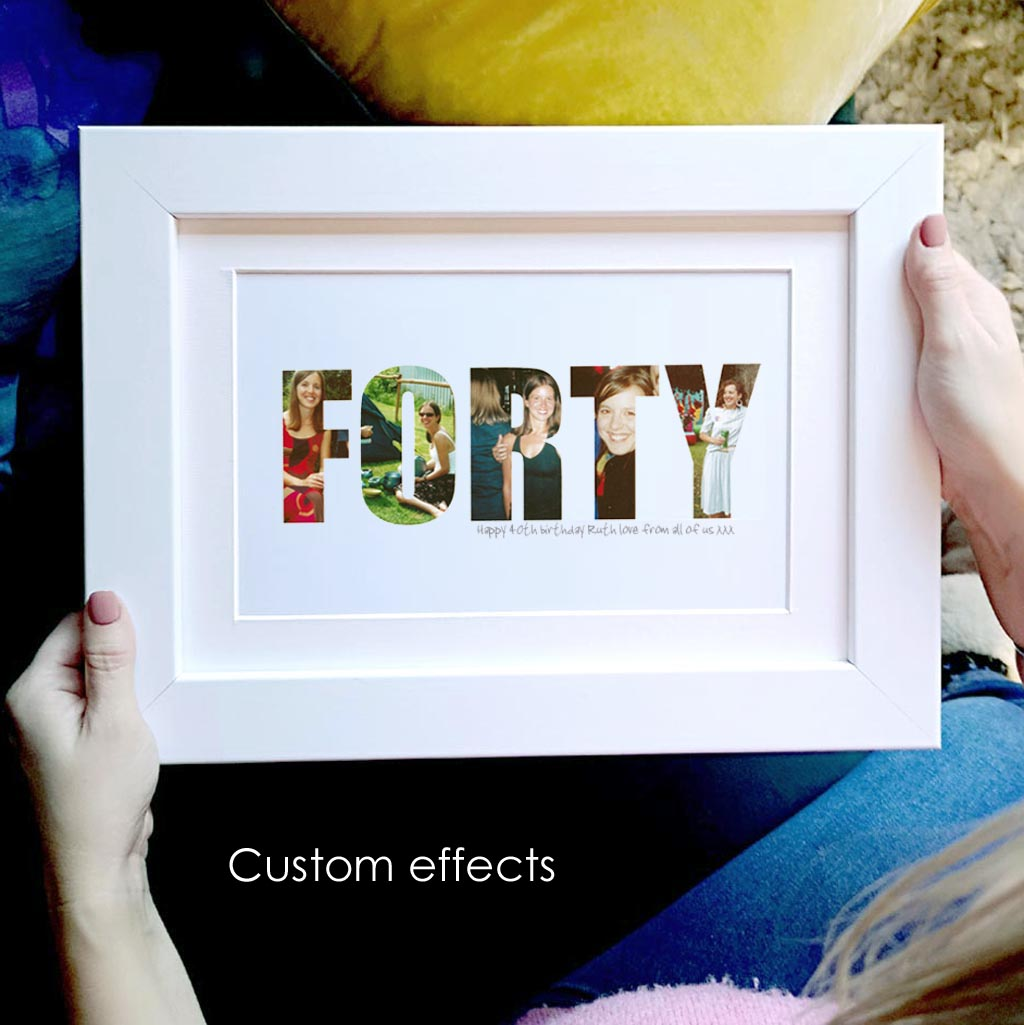 Personalised 40th Forty Birthday photo gift