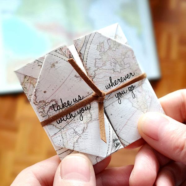 Origami travel keepsake