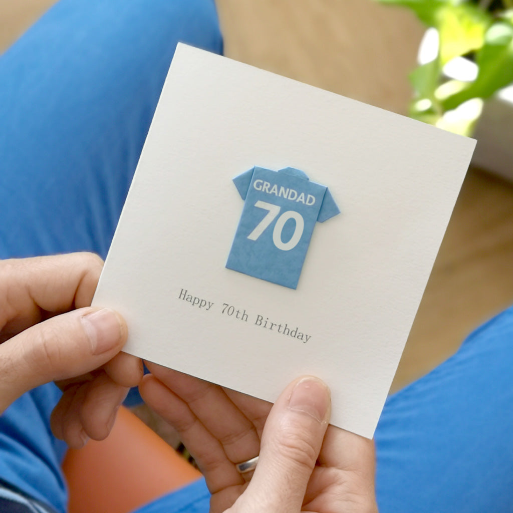 Personalised Football 70th Seventy Birthday Card