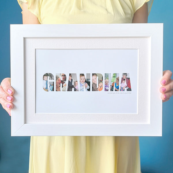 Personalised Grandma Photo Gift Print