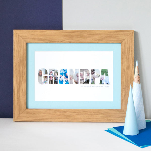 Personalised Grandpa Photo Gift Print