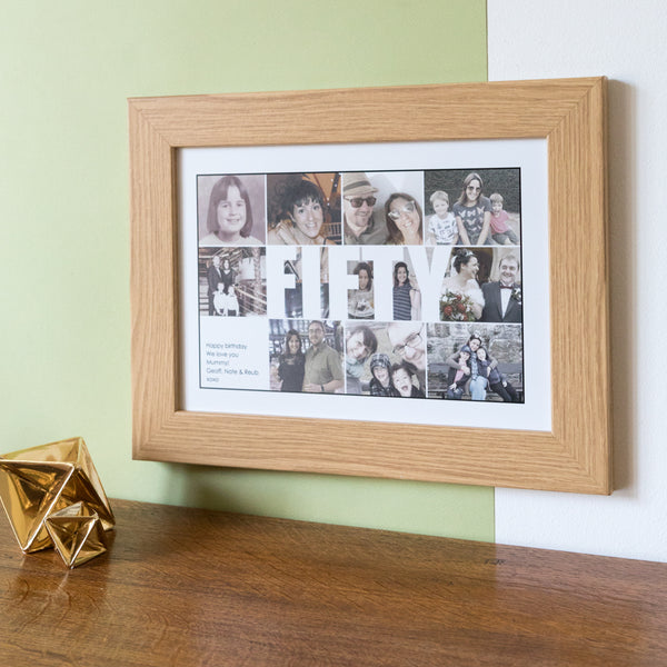 Personalised Fifty Photo Collage Birthday Gift
