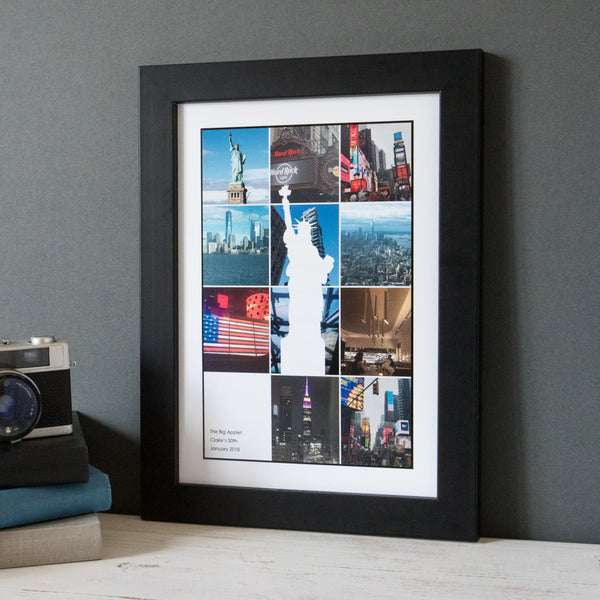Personalised Travel Landmark Photo Collage Print