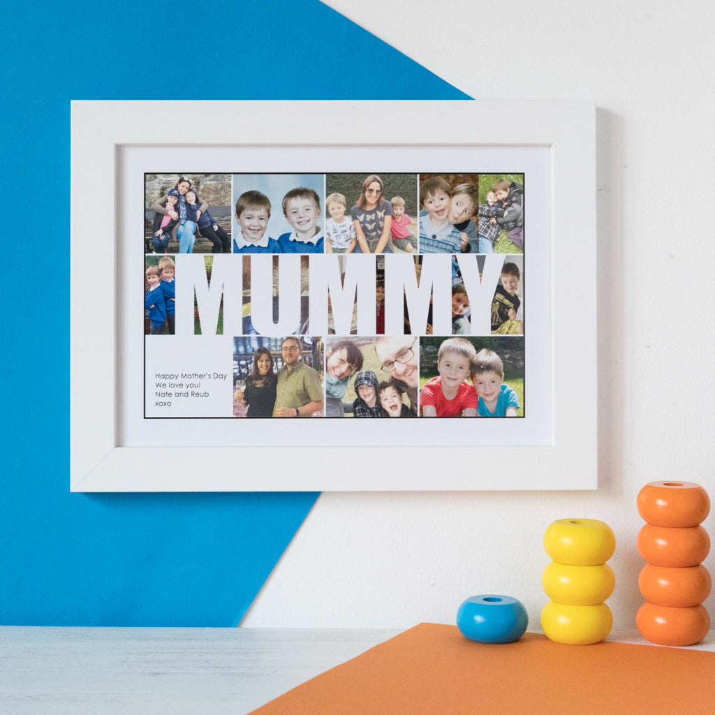 Personalised Mummy Photo Collage Print